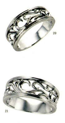 ★【卸直営店をお得な特別割引価格★Angerosa(アンジェローザ)(20)AR-020(L)&(21)AR-021(M)-2本セット, Pt900 マリッジリング、結婚指輪、ペアリング