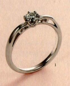 ★【卸直営店のお得な特別割引価格★Angerosa(アンジェローザ)(1)AR-001, Pt900 エンゲージリング、婚約指輪