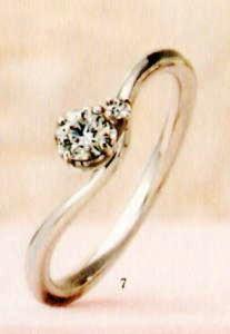 ★【卸直営店のお得な特別割引価格★Angerosa(アンジェローザ)(7)AR-007, Pt900 エンゲージリング、婚約指輪