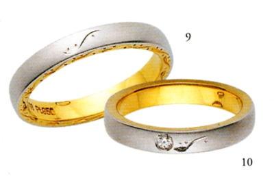 ★【卸直営店のお得な特別割引価格はお問合せ下さい】★ANGE【アンジュ】POUR de VRAI【プルドブレ】(9)5610040&(10)5610041(ダイヤ)マリッジリング・結婚指輪・ペアリング