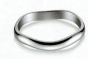 True Love トゥルーラブ (53) K220W-3 卸直営店 お得な特別割引価格 K18WG ホワイトゴールド マリッジリング 結婚指輪 ペアリング (1本)