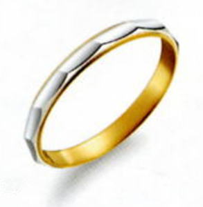 True Love トゥルーラブ (44) M806-3 卸直営店 お得な特別割引価格 Pt900 プラチナ & K18YG イエローゴールド マリッジリング 結婚指輪 ペアリング (1本)