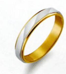 True Love トゥルーラブ (41) M150-3 卸直営店 お得な特別割引価格 Pt900 プラチナ & K18YG イエローゴールド マリッジリング 結婚指輪 ペアリング (1本)