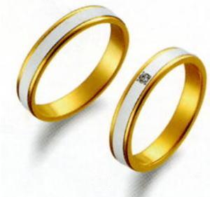 True Love トゥルーラブ (39) M097-3 & (40) M097D-3 ダイヤ =2本セット 卸直営店 お得な特別割引価格 Pt900 プラチナ &  K18YG イエローゴールド マリッジリング 結婚指輪 ペアリング