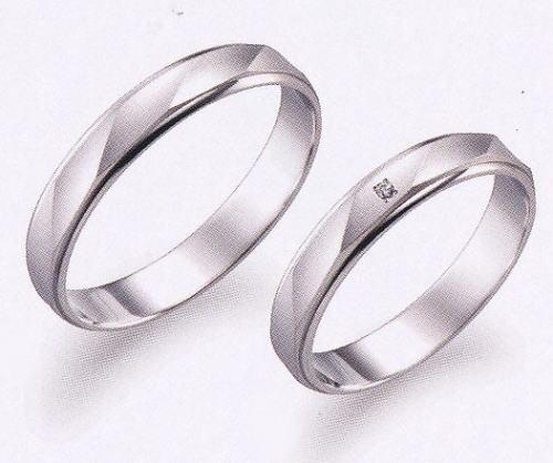 True Love トゥルーラブ (17) P530-3 & (18) P530D-3 ダイヤ = 2本セット 卸直営店 お得な特別割引価格 Pt900 プラチナ マリッジリング 結婚指輪 ペアリング