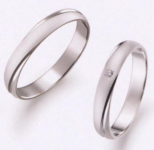 True Love トゥルーラブ (25) P273-3 & (26) P273D-3 ダイヤ =2本セット 卸直営店 お得な特別割引価格 Pt900 プラチナ マリッジリング 結婚指輪 ペアリング