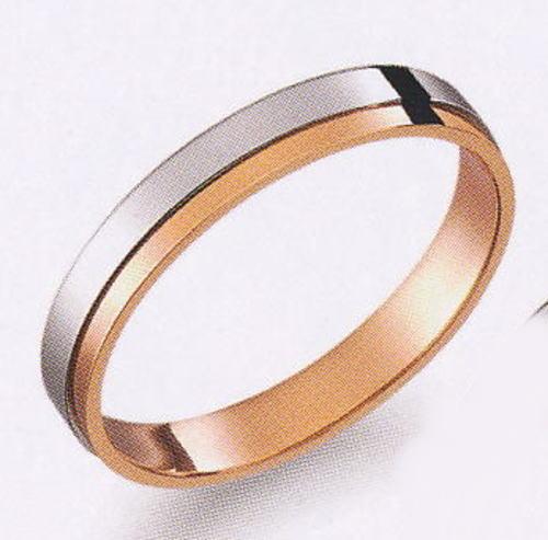 True Love トゥルーラブ (27) M370-3 卸直営店 お得な特別割引価格 Pt900 プラチナ & K18PG ピンクゴールド マリッジリング 結婚指輪 ペアリング(1本)