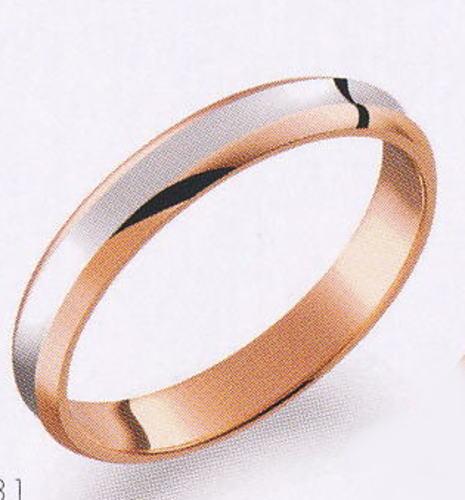 True Love トゥルーラブ (31) M374-3 卸直営店 お得な特別割引価格 Pt900 プラチナ & K18PG ピンクゴールド マリッジリング 結婚指輪 ペアリング(1本)