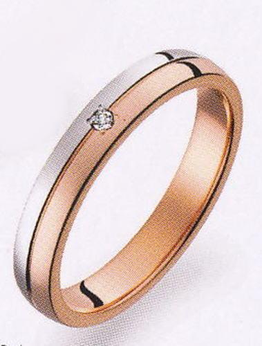 True Love トゥルーラブ (34) M375D-2 ダイヤ 卸直営店 お得な特別割引価格 Pt900 プラチナ & K18PG ピンクゴールド マリッジリング 結婚指輪 ペアリング(1本)