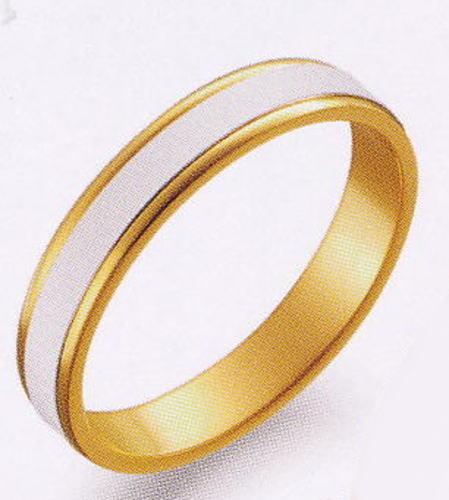 True Love トゥルーラブ (39) M097-3 卸直営店 お得な特別割引価格 Pt900 プラチナ & K18YG イエローゴールド マリッジリング 結婚指輪 ペアリング(1本)