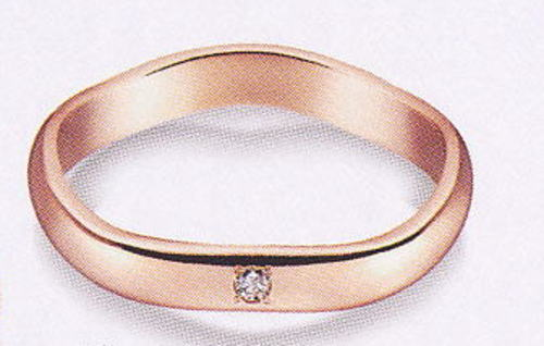 True Love トゥルーラブ (46) K220PD-3 ダイヤ 卸直営店 お得な特別割引価格 K18PG ピンクゴールド マリッジリング 結婚指輪 ペアリング(1本)
