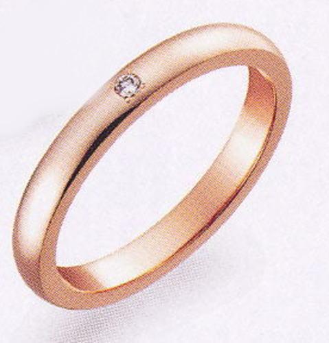 True Love トゥルーラブ (48) K007PD-2 ダイヤ 卸直営店 お得な特別割引価格 K18PG ピンクゴールド マリッジリング 結婚指輪 ペアリング(1本)