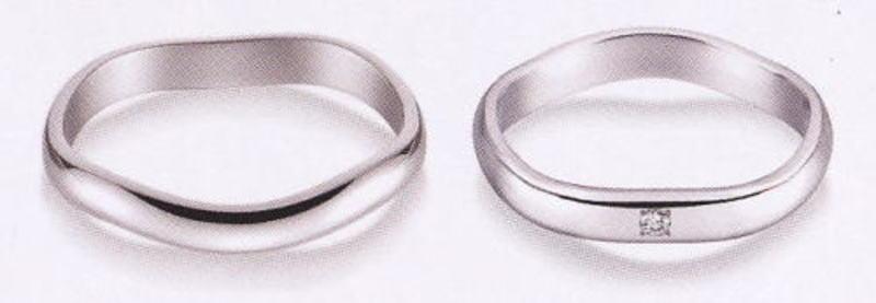 True Love トゥルーラブ (53) K220W-3 & (54) K220WD-3 ダイヤ = 2本セット 卸直営店 お得な特別割引価格 K18WG ホワイトゴールド マリッジリング 結婚指輪 ペアリング
