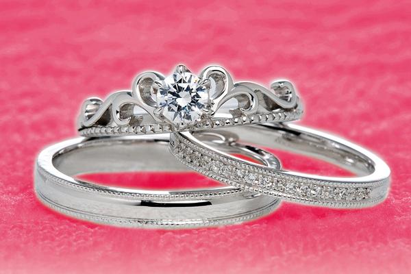 0.2ct.ダイヤモンド婚約指輪(エンゲージリング)/結婚指輪(マリッジリング)3本セットPRF002-02(ブルースター)【当店のオリジナル製品】