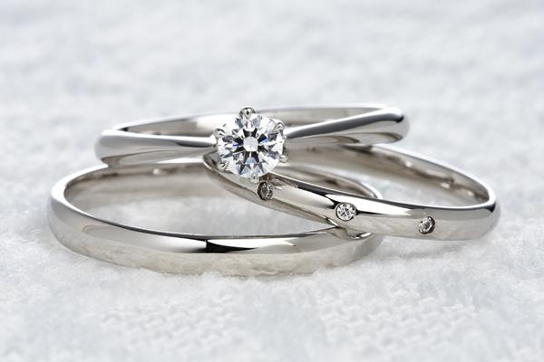 0.5ct.ダイヤモンド婚約指輪(エンゲージリング)/結婚指輪(マリッジリング)3本セットPRF005-05(フリージャ)【当店のオリジナル製品】