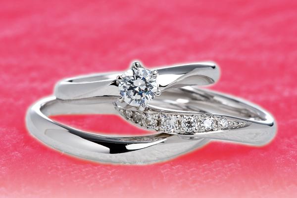0.4ct.ダイヤモンド婚約指輪(エンゲージリング)/結婚指輪(マリッジリング)3本セットPRF007-04(アネモネ)【当店のオリジナル製品】