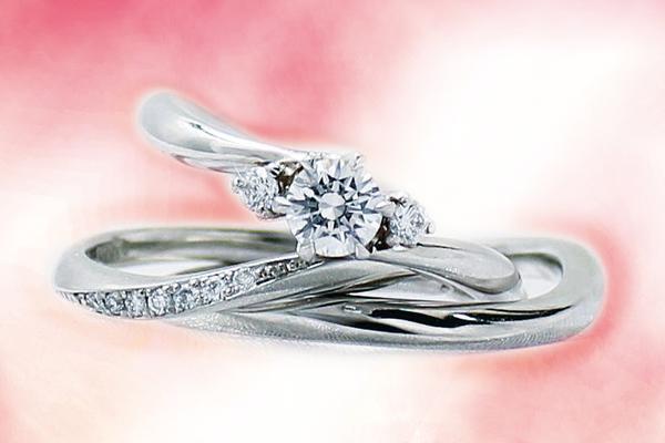 最高の 0.4ct.ダイヤモンド婚約指輪(エンゲージリング)/結婚指輪(マリッジリング)3本セットPRF014-04(セージ)【当店のオリジナル製品】, サントウチョウ 8d0fffc6