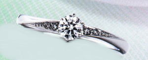 WPR-003E ダイヤモンド(鑑定書付) 婚約指輪 エンゲージリング,スリムタイプ ハードプラチナ