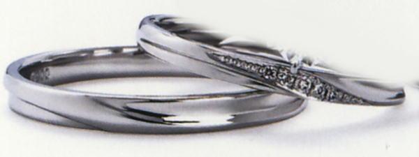 プチロワイヤル WPR-004W-WPR-004M 結婚指輪 マリッジリング 2本セット,スリムタイプ ハードプラチナ
