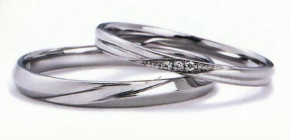 プチロワイヤル WPR-007W-WPR-007M 結婚指輪 マリッジリング 2本セット,スリムタイプ ハードプラチナ