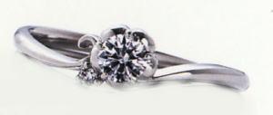 WPR-011E ダイヤモンド(鑑定書付) 婚約指輪 エンゲージリング,スリムタイプ ハードプラチナ