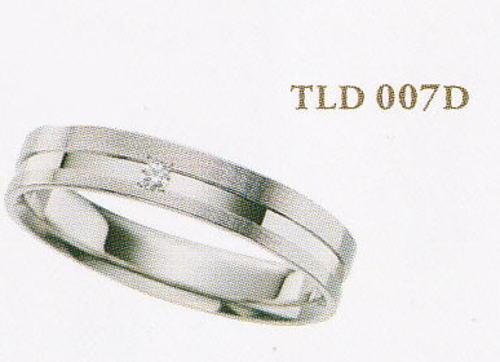 ★Tous Les Deux〔トゥレドゥ〕【Pd990新素材パラジウム・ジュエリー】TLD007Dマリッジリング・結婚指輪・ペアリング用(1本)