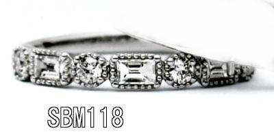 ★お買得情報があります???!!★【特注】 Something BlueサムシングブルーSBM118(丸&角ダイヤ1/2ハーフエタニティ)マリッジリング、結婚指輪