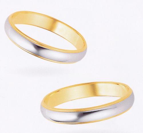 ★【卸直営店のお得な特別割引価格】★ et toi エトワ PR02W & PR02M Pt900/K18YG マリッジリング 結婚指輪 ペアリング (2本)