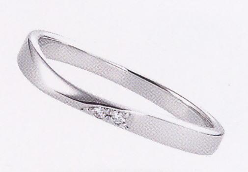 ★【卸直営店の(お得な特別割引価格)】★ et toi エトワ K014 Pt900 ダイヤ入り マリッジリング 結婚指輪 ペアリング (1本)