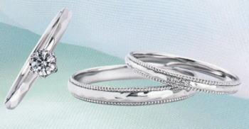 WPR-002 ダイヤモンド(鑑定書付) 婚約指輪 エンゲージリング & 結婚指輪 マリッジリング 3本セット