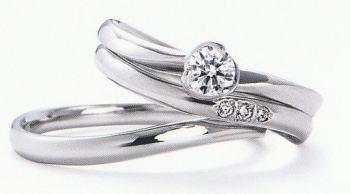 WPR-005 ダイヤモンド(鑑定書付) 婚約指輪 エンゲージリング & 結婚指輪 マリッジリング 3本セット