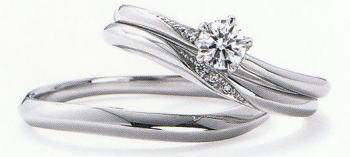 WPR-010 ダイヤモンド(鑑定書付) 婚約指輪 エンゲージリング & 結婚指輪 マリッジリング 3本セット