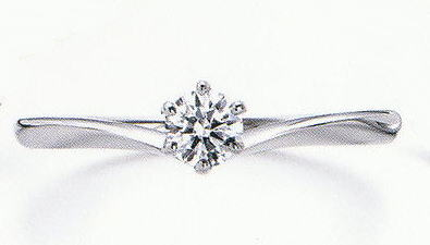 WPR-051 ダイヤモンド(鑑定書付) 婚約指輪 エンゲージリング,スリムタイプ ハードプラチナ