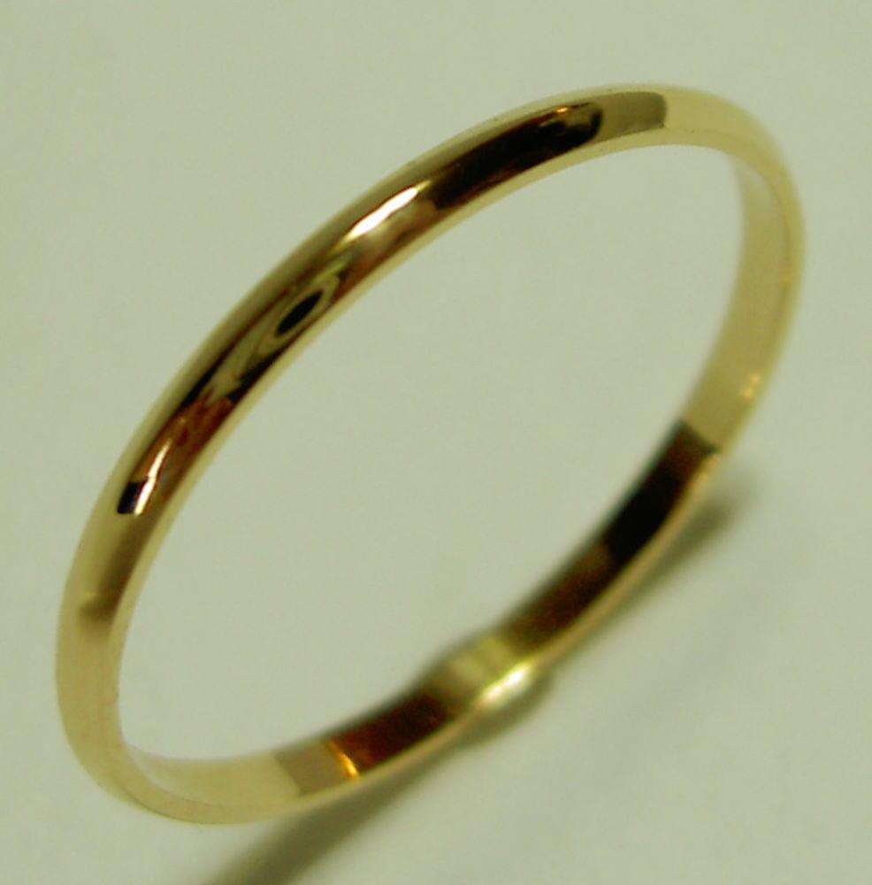 K18YG イエローゴールド SLIM(スリム 1.5mm幅)な結婚指輪、マリッジリング、ペアリング(1本)