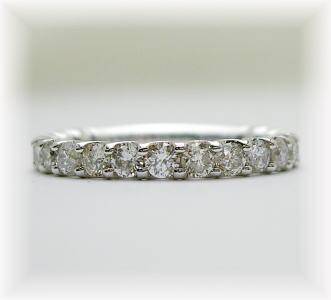 K18ホワイトゴールド ダイヤモンド リング(エタニティデザイン)