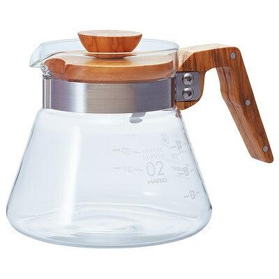 熱湯OK HARIO ハリオ コーヒーサーバー600 オリーブウッド 2020A 売却 W新作送料無料 600ml VCWN-60-OV
