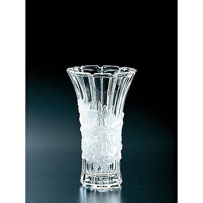 おしゃれな花柄が特徴のクリスタルガラスの花瓶です 石塚硝子 全品送料無料 ISHIZUKA GLASS 日本メーカー新品 アデリアグラス ADERIA 小 花瓶 クリスタル F70420 蘭柄花器