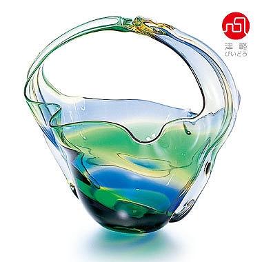 石塚硝子 ISHIZUKA GLASS アデリアグラス ADERIA GLASS 津軽びいどろ 手付き花器 F79834 花瓶