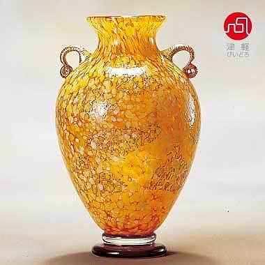 石塚硝子 ISHIZUKA GLASS アデリアグラス ADERIA GLASS 津軽びいどろ 大川壺 十和田紅葉 F79649 花瓶 花器