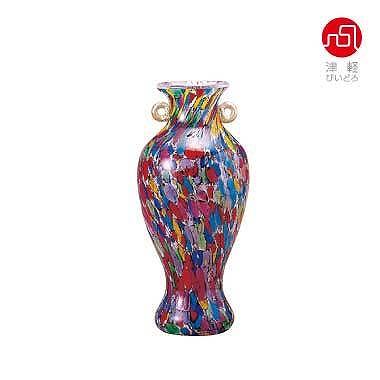 石塚硝子 ISHIZUKA GLASS アデリアグラス ADERIA GLASS 津軽びいどろ ねぶたまつり ミニ花器 F79453 花瓶