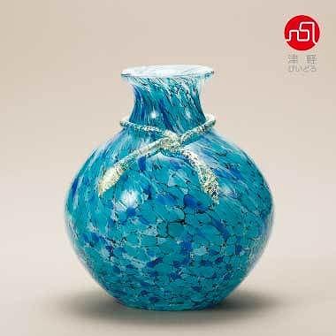 石塚硝子 ISHIZUKA GLASS アデリアグラス ADERIA GLASS 津軽びいどろ 紫陽花 花器 F77636 花瓶