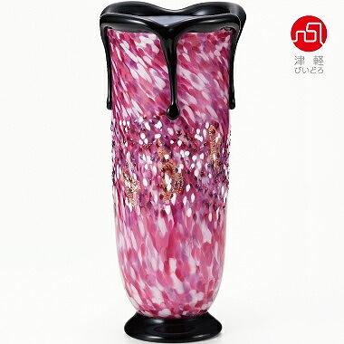 石塚硝子 ISHIZUKA GLASS アデリアグラス ADERIA GLASS 津軽びいどろ 黒重ね花器(花あかり) F71436 花瓶