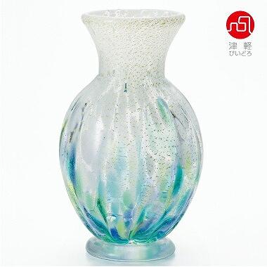 【期間限定!ポイント5倍中!】石塚硝子 ISHIZUKA GLASS アデリアグラス ADERIA GLASS 津軽びいどろ 紫陽花 壷花器 F71745 花瓶
