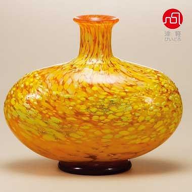 【期間限定!ポイント5倍中!】石塚硝子 ISHIZUKA GLASS アデリアグラス ADERIA GLASS 津軽びいどろ 十和田紅葉 花器 ( 大 ) F77306 花瓶