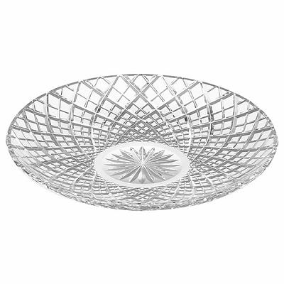 KAGAMI CRYSTAL カガミクリスタル 江戸切子 八寸皿(矢来重紋) 20cm D302-1564 大皿