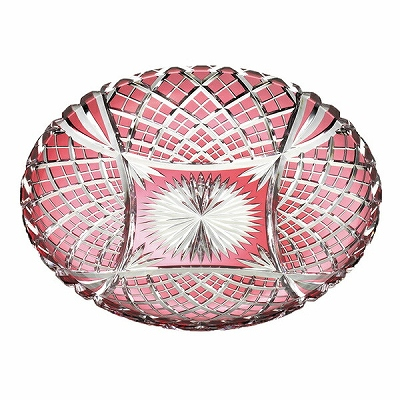 【期間限定!ポイント5倍中!】NARUMI ナルミ 江戸切子 飾り皿<矢来重紋> 28cm D556-2680CAU