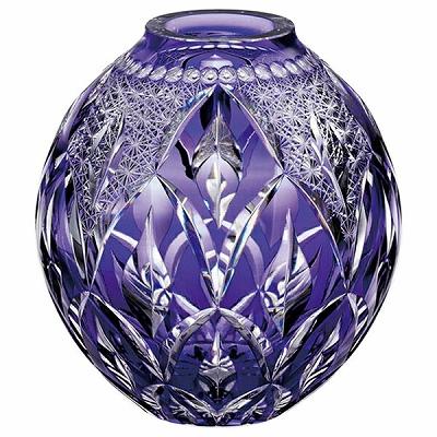 KAGAMI CRYSTAL カガミクリスタル 花瓶(伝統工芸士根本達也) 19cm F798-2718CMP 花瓶 フラワーベース