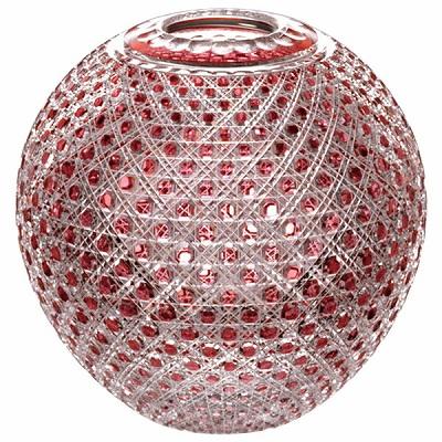 【期間限定!ポイント5倍中!】NARUMI ナルミ 江戸切子 金赤色被毬型花瓶(八角籠目紋) F801-1CAU