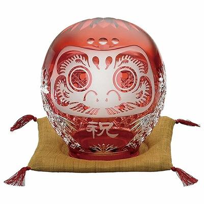 KAGAMI CRYSTAL カガミクリスタル 祝だるま(大) 16cm Q337-2303CAU 置物