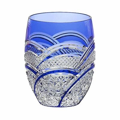 KAGAMI CRYSTAL カガミクリスタル ロックグラス(魚子に麻の葉紋) 330cc T428-2523CCB